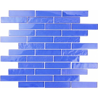 Landscape 1 x 4 Glass Mosaic Tile in Blue