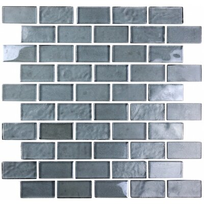 Landscape 1 x 2 Glass Mosaic Tile in Blue Gray