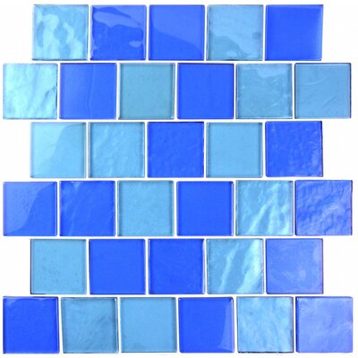 Landscape 2 x 2 Glass Mosaic Tile in Horizon
