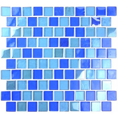 Landscape 1 x 1 Glass Mosaic Tile in Horizon
