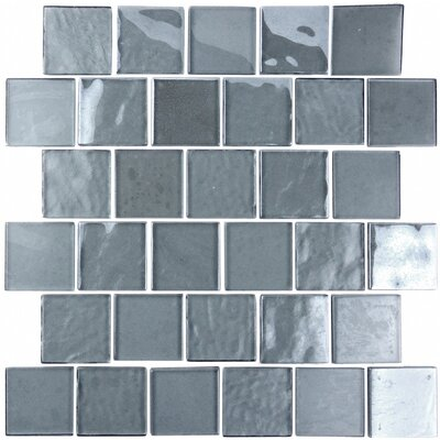 Landscape 2 x 2 Glass Mosaic Tile in Blue Gray