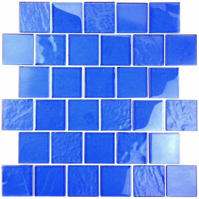 Landscape 2 x 2 Glass Mosaic Tile in Blue