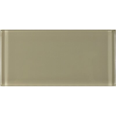 Metro 3 x 6 Glass Subway Tile in Brown