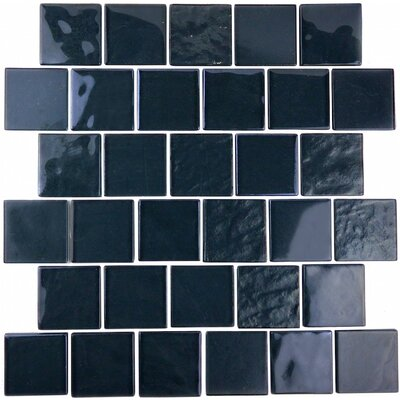 Landscape 2 x 2 Glass Mosaic Tile in Dark Gray