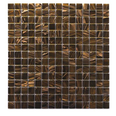 Venus 0.63 x 0.63 Glass Mosaic Tile in Brown Neon