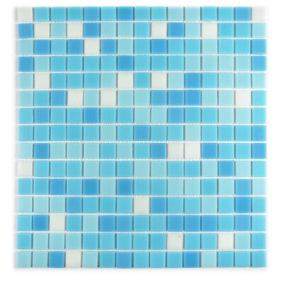 Swimming Pool 0.63 x 0.63 Glass Mosaic Tile in Eton Blue