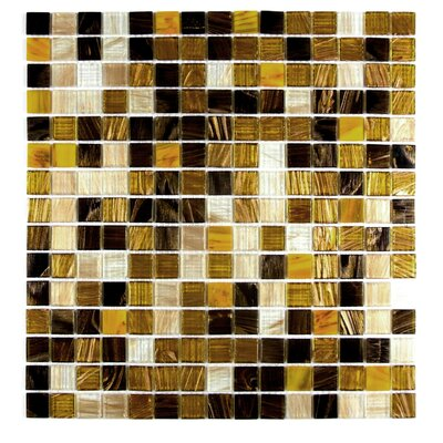 Venus 0.63 x 0.63 Glass Mosaic Tile in Sweet Honey