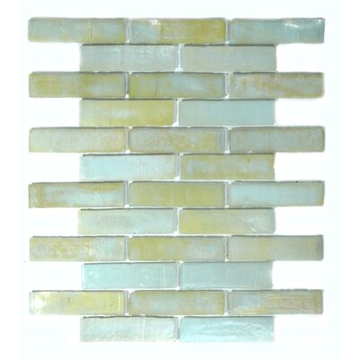 Bamboo 1 x 4 Glass Mosaic Tile in Blue