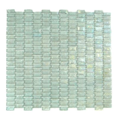 Classic Recycled 12.81 x 12.31 Glass Mosaic Tile in Glazed Mint