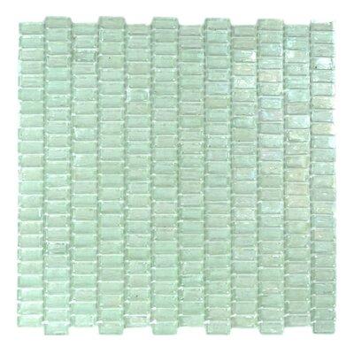 Classic Recycled 12.81 x 12.31 Glass Mosaic Tile in Glazed Iceberq
