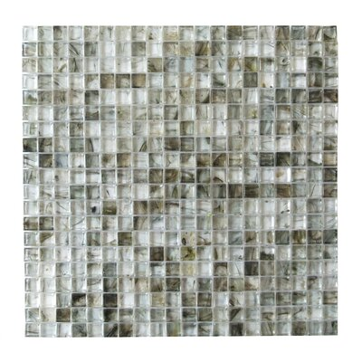 4D Cube 0.63 x 0.63 Glass Mosaic Tile in Light Gray