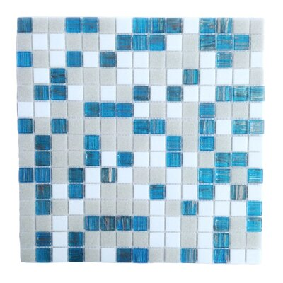 Bon Appetit 0.75 x 0.75 Glass Mosaic Tile in Turquoise Splash