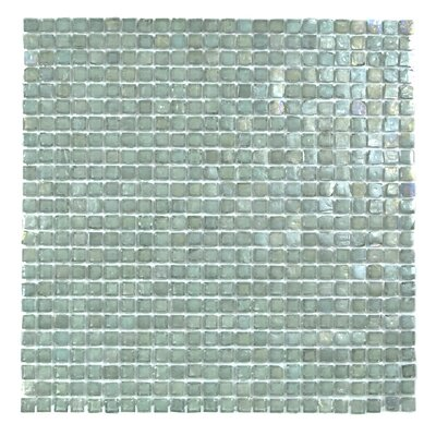 Classic Recycled 12.88 x 12.88 Glass Mosaic Tile in Sea Weed