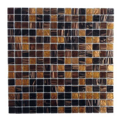 Bon Appetit 0.75 x 0.75 Glass Mosaic Tile in Glazed Masala