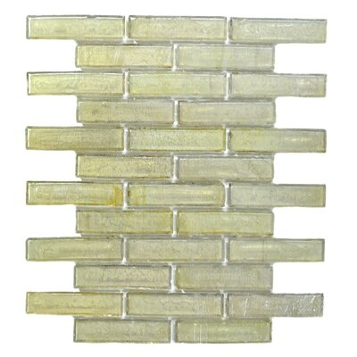 Bamboo 1 x 4 Glass Mosaic Tile in Beige