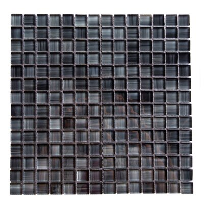 Handicraft II 0.75 x 0.75 Glass Mosaic Tile in Glazed Lagoon