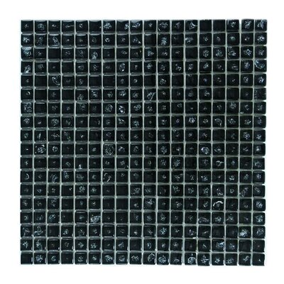 Ice Age 1 x 1 Glass Mosaic Tile in Black Ice