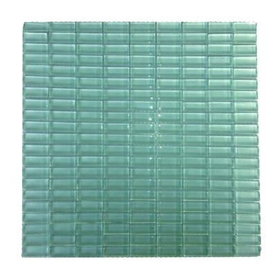 """Abolos Epiphany 0.5"""" x 1.25"""" Glass Mosaic Tile in Light Blue WHSEPIFGWH (Light Blue)"""