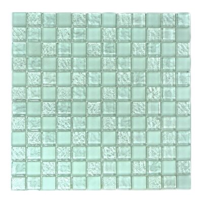 Ice Age 1 x 1 Glass Mosaic Tile in Freeze