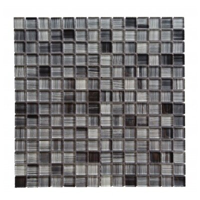 Handicraft II 0.75 x 0.75 Glass Mosaic Tile in Glazed Calligrahpy