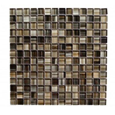 Handicraft II 0.75 x 0.75 Glass Mosaic Tile in Black Sea