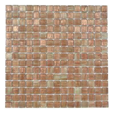 Bon Appetit 0.75 x 0.75 Glass Mosaic Tile in Light Brown