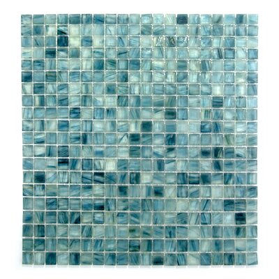Honey Berries 0.63 x 0.63 Glass Mosaic Tile in Blue Pearl Ocean
