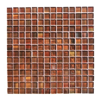 Handicraft II 0.75 x 0.75 Glass Mosaic Tile in Dark Brown