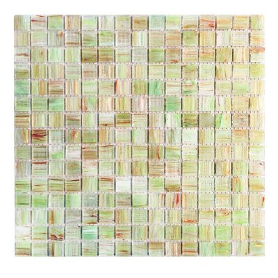 Bon Appetit 0.75 x 0.75 Glass Mosaic Tile in Light Green