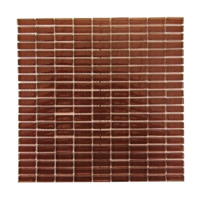 Epiphany 0.5 x 1.25 Glass Mosaic Tile in Brown