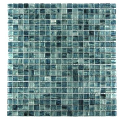 Honey Berries 0.63 x 0.63 Glass Mosaic Tile in Ocean