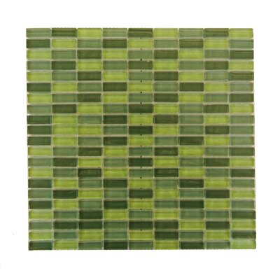 Epiphany 0.5 x 1.25 Glass Mosaic Tile in Glazed Eden Mix