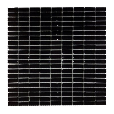 Epiphany 0.5 x 1.25 Glass Mosaic Tile in Black