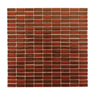Epiphany 0.5 x 1.25 Glass Mosaic Tile in Red