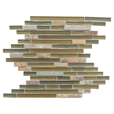 New Era II Random Sized Glass/Stone Mosaic Tile in 4 Color Blend