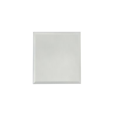 Echo 8 x 8 Mirror Glass Field Tile in Silver Matte