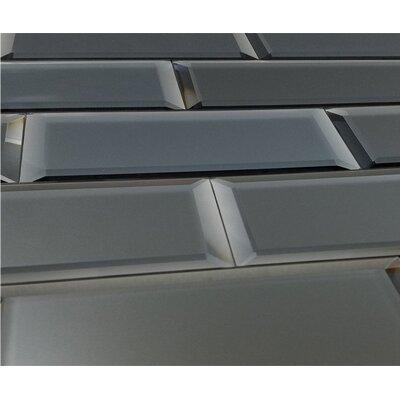 Echo 3 x 12 Glass Subway Tile in Graphite Matte