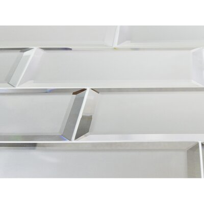 Echo Matte 4 x 12 Mirror Glass Subway Tile in Silver
