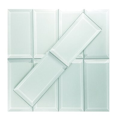Frosted Elegance 3 x 6 Glass Subway Tile in Matte Arctic