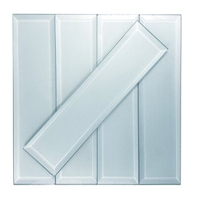 Frosted Elegance 3 x 12 Glass Subway Tile in Matte Blue