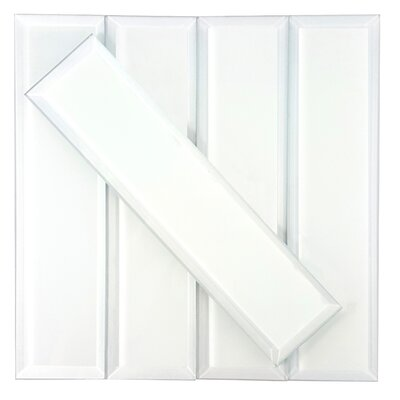 Frosted Elegance 3 x 12 Glass Subway Tile in Matte White