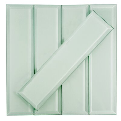 Frosted Elegance 3 x 12 Glass Subway Tile in Matte Arctic