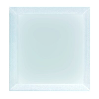 Frosted Elegance 8 x 8 Glass Subway Tile in Matte Blue