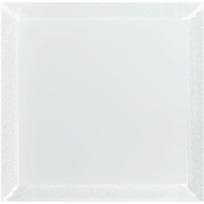Frosted Elegance 8 x 8 Glass Subway Tile in Matte Gray