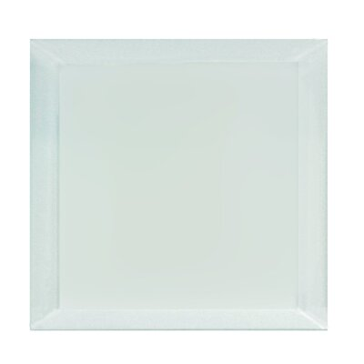 Frosted Elegance 8 x 8 Glass Subway Tile in Matte Arctic