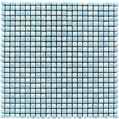 Full Body 0.5 x 0.5 Glass Mosaic Tile in Light Blue