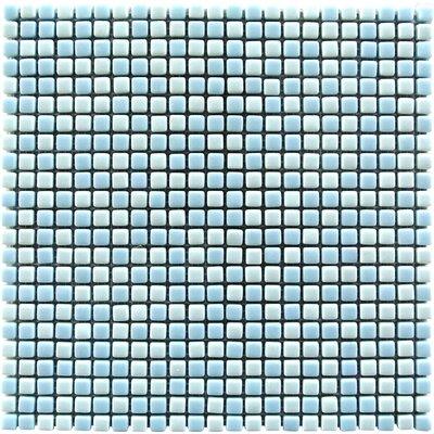 Full Body 0.5 x 0.5 Glass Mosaic Tile in Light Blue