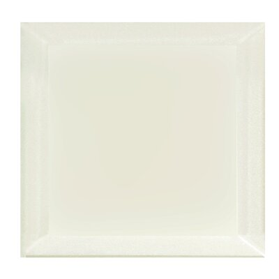 Frosted Elegance 8 x 8 Glass Subway Tile in Matte Cream