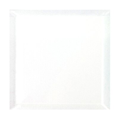 Frosted Elegance 8 x 8 Glass Tile in Glossy White