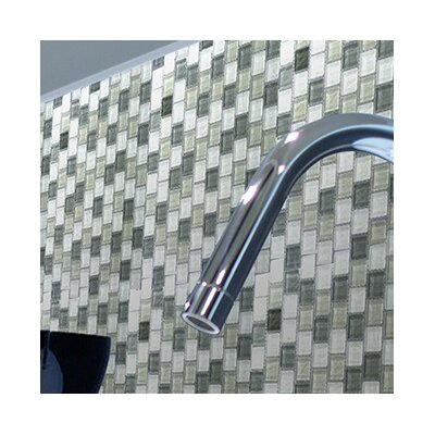 Geo 1 x 1 Glass Mosaic Tile in Blue Gray